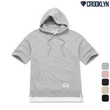 [크루클린] TRS-211 레이어드 후드반팔 티셔츠