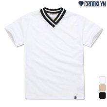 [크루클린] TRS-048 V넥 반팔 티셔츠