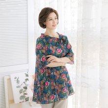 마담4060 엄마옷 장미안나비블라우스 QBL905055