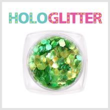 엘리카 홀로글리터 육각2mm(오팔그린) -H132-