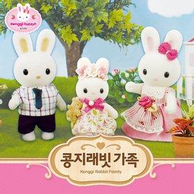 [콩지래빗] 콩지래빗 가족 / 가족인형 토끼인형