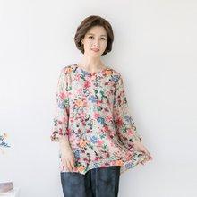 마담4060 엄마옷 꽃밭의인견블라우스 QBL905049
