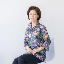 마담4060 엄마옷 반오픈와이어꽃블라우스 QBL905045