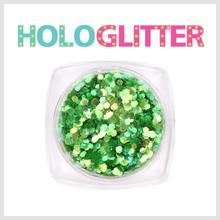엘리카 홀로글리터 육각1mm(오팔그린) -H127-