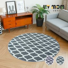 리브맘 사슬 원형카페트 러그(150x150cm)