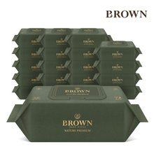 [브라운]물티슈 네이처 프리미엄 72매 캡 10팩+10팩/75gsm