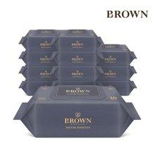 [브라운]물티슈 네이처 프리미엄 72매 캡 10팩/75gsm
