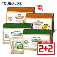 트루앤라이프 유기농 양배추 브로콜리즙 2박스 + 생도라지 배즙 2박스(총120포)