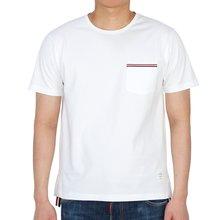 삼선 포켓 MJS010A 01454 100 남자 반팔티셔츠
