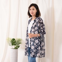 마담4060 엄마옷 플라워쉬폰롱셔츠 QBL907081