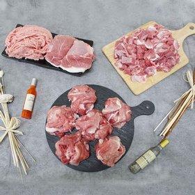 친환경 무항생제 돼지고기 초록한돈 앞다리살(전지) 1.5kg (500g 3팩)