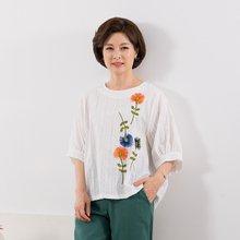 마담4060 엄마옷 꽃송이자수블라우스 QBL907048A