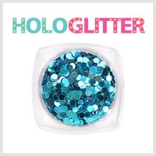 엘리카 홀로글리터 라운드2mm(아쿠아블루) -H108-
