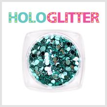 엘리카 홀로글리터 라운드2mm(민트블루) -H107-