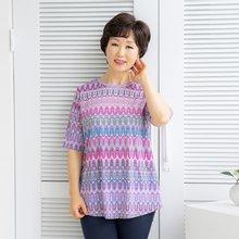 마담4060 엄마옷 유니크한라운드티셔츠-ZTE004065-