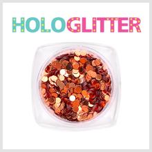 엘리카 홀로글리터 라운드2mm(브론즈) -H105-