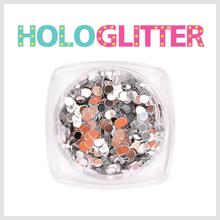 엘리카 홀로글리터 라운드2mm(실버) -H102-