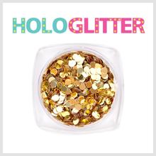 엘리카 홀로글리터 라운드2mm(골드) -H101-