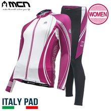 [MCN] 여성 스파키퍼플 상하세트(긴팔져지+9부패드바지) 자전거의류