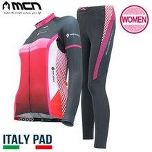 [MCN] 여성 스페스 상하세트(긴팔져지+9부패드바지) 자전거의류