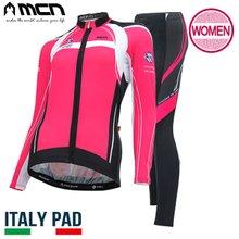 [MCN] 여성 핑크맥스 상하세트(긴팔져지+9부패드바지) 자전거의류