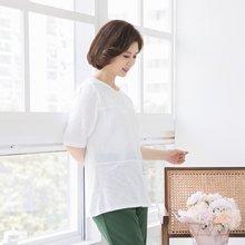 마담4060 엄마옷 포켓자수티셔츠 QTE906020