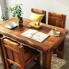 해찬솔 소나무 통원목 평창뜰 4인 원목식탁 세트1500A/의자포함/4인용원목식탁/원목테이블