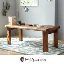 해찬솔 소나무 통원목 평창뜰 원목책상 테이블 1800/원목식탁/6인용원목식탁/원목테이블
