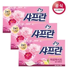[샤프란] 아로마 시트 섬유유연제 핑크 센세이션 30매 x3개 뽑아쓰는 시트타입