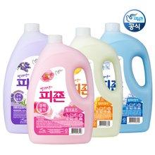 [인기용량!]▶피죤 섬유유연제 3100mlx4개 용기형◀일반,드럼용/세탁빨래액체세제