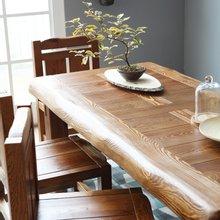 해찬솔 소나무 통원목 평창뜰 원목식탁 테이블 2000/원목책상/6인용원목식탁/원목테이블
