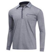 [파파브로]남성 국산 베이직 긴팔 카라 티셔츠 LM-A9-502-그레이