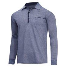 [파파브로]남성 국산 베이직 긴팔 카라 티셔츠 LM-A9-503-네이비
