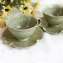 [박씨상방]청연잎 2인 커피세트 /커피잔 커피잔세트