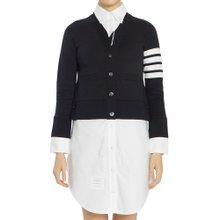 [톰브라운] 옥스포드 클래식 루프백 FJD054A 00535 415 여자 가디건 셔츠 원피스