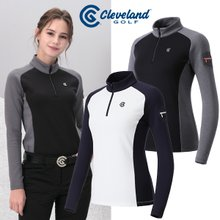 [클리브랜드골프] X-PERT 미니포켓 쿠션기모 하프집업 여성 긴팔티셔츠/골프웨어_CG248302