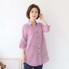마담4060 엄마옷 스트라이프포켓셔츠 QBL906025