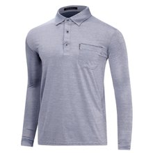 [파파브로]남성 국산 스트라이프 카라 티셔츠 LM-A9-520-그레이
