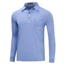 [파파브로]남성 국산 스트라이프 카라 티셔츠 LM-A9-521-블루