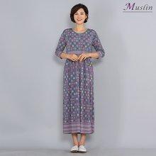 럭셔리패턴 셔링 홈웨어 -HW8032218-모슬린 엄마옷