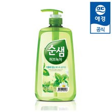 [순샘] 주방세제 1kg X 2개 (레몬유자/허브녹차)