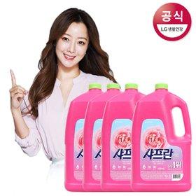 [샤프란] [샤프란] 핑크 센세이션 섬유유연제 4200ml x4개