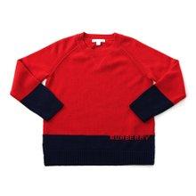 [버버리키즈] 로고 인타르시아 캐시미어 ALISTER 8003745 A1460 키즈 스웨터 (성인착용가능)