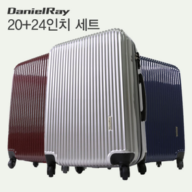 [다니엘레이] 캐리어 20인치+24인치세트 PC+ABS/여행용 캐리어/여행가방/360도 회전/TSA/우레탄