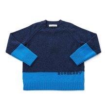[버버리키즈] 로고 인타르시아 캐시미어 ALISTER 8003744 A1222 키즈 스웨터 (성인착용가능)