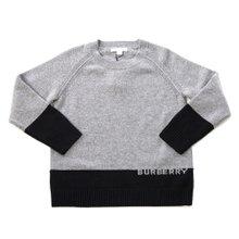 [버버리키즈] 로고 인타르시아 캐시미어 ALISTER 8003743 A1216 키즈 스웨터 (성인착용가능)