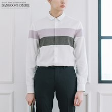 [단군] 블록배색셔츠