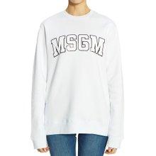 [엠에스지엠] 로고 2742MDM163 195799 01 여자 긴팔 기모 맨투맨 티셔츠