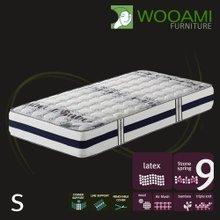 [우아미샵] Cozy VIP Bamboo wool패딩 라텍스탑 9zone독립 매트리스 싱글S
