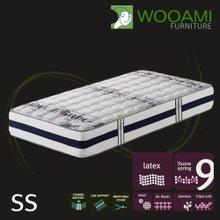 [우아미샵] Cozy VIP Bamboo wool패딩 라텍스탑 9zone독립 매트리스 슈퍼싱글SS